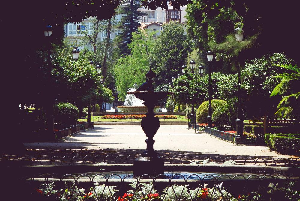 スペイン、ヴィーゴの噴水。